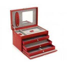 Friedrich Lederwaren Šperkovnice červená/šedá Classico 23236-40