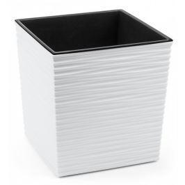 Lamela květináč JUKA DLUTO-vroubek 400 x 400 bílá