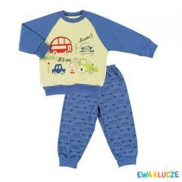 Ewa Klucze chlapecké pyžamo Little Moon 80 modrá