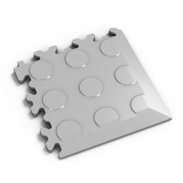 Fortelock Šedý plastový vinylový rohový nájezd 2046 (penízky) - 14 x 14 x 0,7 cm