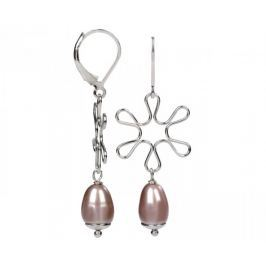 JwL Luxury Pearls Stříbrné náušnice s pravou perlou JL0157 stříbro 925/1000
