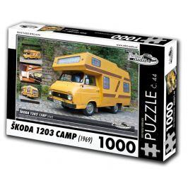 RETRO-AUTA© Puzzle č. 44 - ŠKODA 1203 CAMP (1969) 1000 dílků