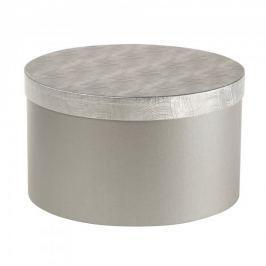 Dárková krabice Lucie 3, stříbrná vlnka - 34,5x20 cm
