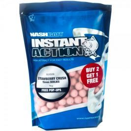 Nash Boilies Instant Action Strawberry Crush 200 g, 15 mm