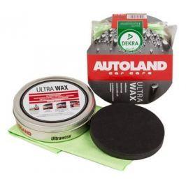 AUTOLAND Vosk na lak, tvrdý, s UV filtrem a voskem Carnauba, + houbička a utěrka, 100 g