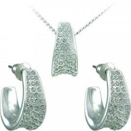 MHM Souprava šperků Leona Crystal 34106 stříbro 925/1000