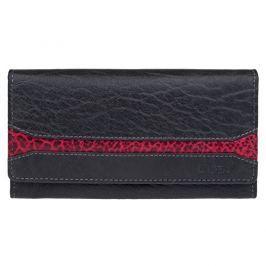 Lagen Dámská černá kožená peněženka Black/Red W-2025/IT