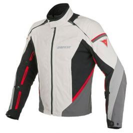 Dainese bunda RAINSUN D-DRY vel.50 béžová/černá/červená, textilní