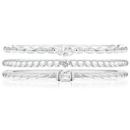 Morellato Sada tří vrstvených prstenů SAHA14 (Obvod 54 mm) stříbro 925/1000