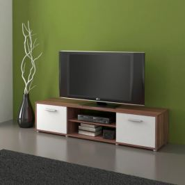 Televizní stolek ZU01, švestka/bílá
