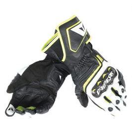 Dainese rukavice CARBON D1 LONG vel.M černá/bílá/fluo žlutá, kůže (pár)