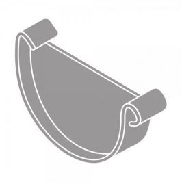 LanitPlast Čelo žlabu RG 125 půlkulaté šedá barva