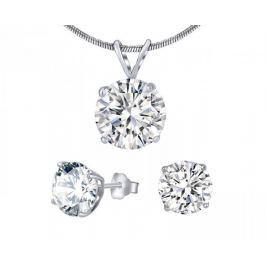 Silvego Stříbrný set šperků s čirým křišťálem JJJS5RC1 stříbro 925/1000