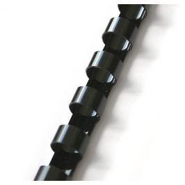 Hřbet pro kroužkovou vazbu 6 mm černý / 100 ks
