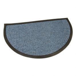 FLOMAT Modrá textilní vstupní půlkruhová rohož Criss Cross - 75 x 45 x 1 cm