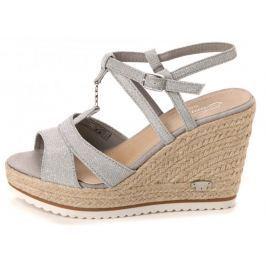 Tom Tailor dámské sandály 40 stříbrná