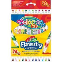 Popisovač oboustranný 12 ks/24 barev Colorino