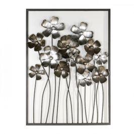 Papillon Nástěnná dekorace kovová Fleurs, 80 cm