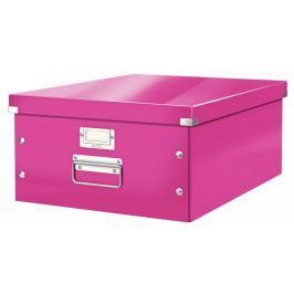 Krabice CLICK & STORE velká archivační, růžová