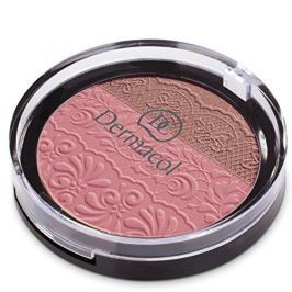 Dermacol DUO tvářenka s reliéfem krajky (Duo Blusher) 8,5 g (Odstín č.1)