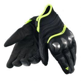 Dainese rukavice X-RUN vel.S černá/fluo-žlutá, kůže (pár)