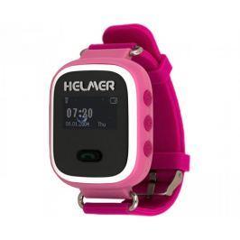 e6d8957fc Recenze Helmer Chytré hodinky s GPS lokátorem a SIM kartou GoMobil s kreditem  50 Kč LK 702 růžové