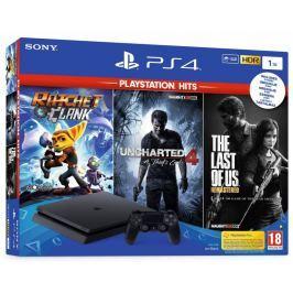 Sony Playstation 4 Slim - 1TB + TLOU + DC + R&C