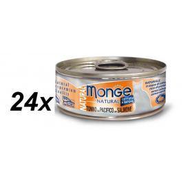 Monge NATURAL tuňák s lososem pro kočky 24 x 80g