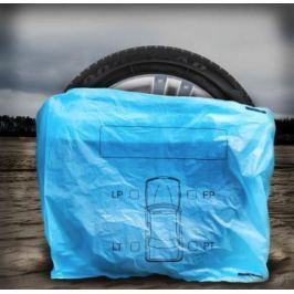 MAMMOOTH Pytle na pneumatiky, 100 x 64 cm, modré, sada 4 ks