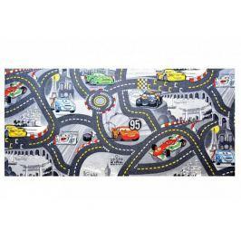 Dětský koberec The Wolrd of Cars 97 šedý 80x120 cm
