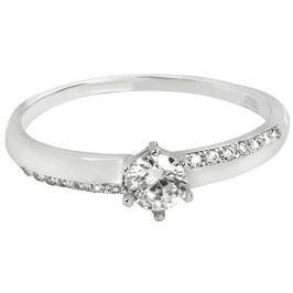 Brilio Zlatý zásnubní prsten s krystaly 229 001 00762 07 - 1,10 g (Obvod 52 mm) zlato bílé 585/1000