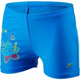 Speedo Sea Squad Placement Aquashort Neon Blue/Japan Blue/Risk Red 3