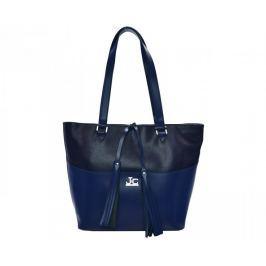 J&C JACKYCELINE Dámská kožená kabelka Borsa Pelle S16B325-04-014 Dark Blue