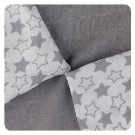 XKKO Bambusové ubrousky Little Stars 30x30, Silver (9ks)