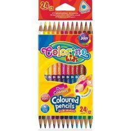 Pastelky trojhranné oboustranné 24 barev (12 ks) Colorino Kids