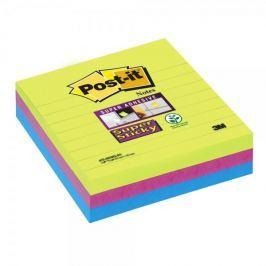 Blok samolepicí Post-it 101 x 101 mm linkovaný, neon