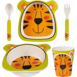 Time Life Snídaňová sada pro děti, motiv tygr, bambus