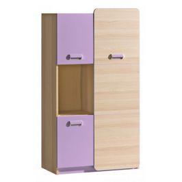 LOIRENTO, policová skříň L5, jasan/fialová
