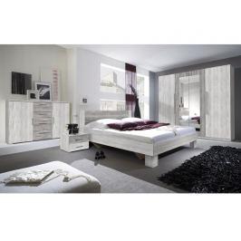 VERA ložnice s postelí 160x200, borovice canyon světlá/borovice canyon tmavá