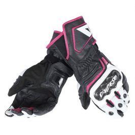 Dainese rukavice dámské CARBON D1 LONG LADY vel.XS černá/bílá/růžová, kůže (pár)