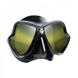 Mares Maska dvouzorníková X-VISION ULTRA LS ZRCADLOVÁ SKLA, černá/sklo stříbrné barvy