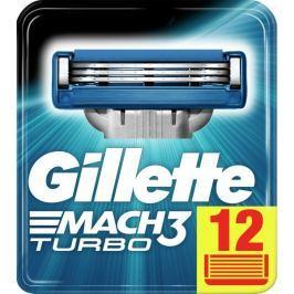 Gillette Mach3 Turbo holicí hlavice pro muže 12ks