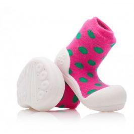Attipas dívčí botičky Polka Dot Pink 19 růžová