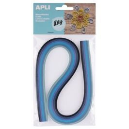 Quilling Apli papírové proužky modré tóny, 120 proužků