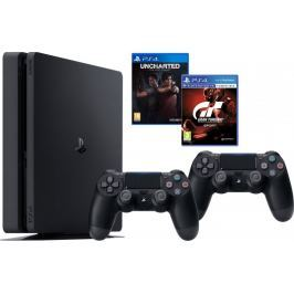 Sony PlayStation 4 Slim - 1TB + Gran Turismo Sport + Uncharted: The Lost Legacy + Dualshock 4