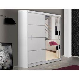Šatní skříň s posuvnými dveřmi WISTA 150, bílá