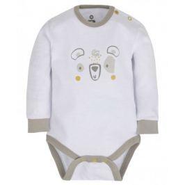 G-mini Dětské body Medvídek - bílé, 50 cm