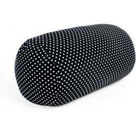 Albi Relaxační polštář černý s bílými puntíky 18x35 cm