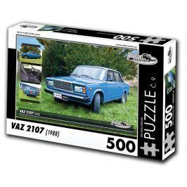 RETRO-AUTA© Puzzle č. 09 - VAZ 2107 (1988) 500 dílků