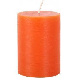 Toro Svíčka rustikální oranžová 7,5 x 10 cm